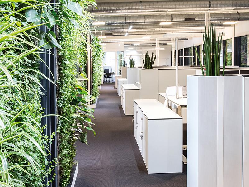 Climate Office bepflanzte Akustiksäule